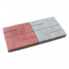 Тротуарная плитка 8 кирпичей 300х300х30 мм (нескользящая поверхность)