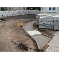 Тротуарная плитка на бетонное основание - цена укладки