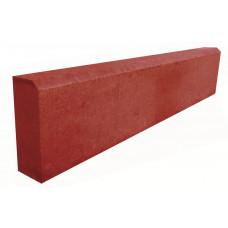 Бордюр садовый 1000Х200Х80 (вибропресс) красный
