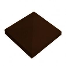 Бетонная крышка на столб «Восточная» коричневый