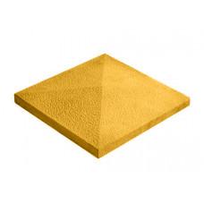 Бетонная крышка на столб «Восточная» жёлтый