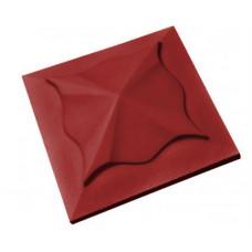 Бетонная крышка на столб «Медуза» красный