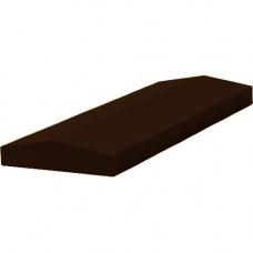 Бетонная крышка на забор 390х270х65 коричневый