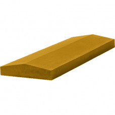 Бетонная крышка на забор 390х270х65 жёлтый