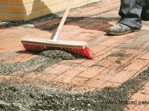 Затирка для тротуарной плитки- песок с цементом