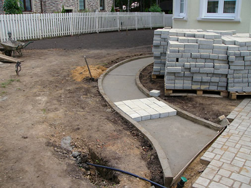 Тротуарная плитка на бетонное основание